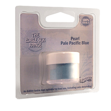 Оцветители и есенции - Перлен оцветител Edible Silk - Pearl Pale Pacific Blue