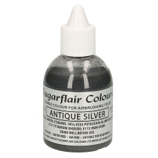 Оцветители и есенции - Перлен оцветител - Sugarflair Airbrush - Antique Silver