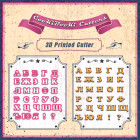 Комплект резци - Българска азбука - CopperCyr - 4 см