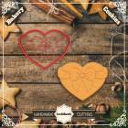 Резец с щампа - сърце с панделка