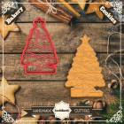 Резец с щампа - Коледна елха