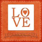 Силиконов шаблон - LOVE #01
