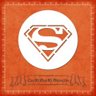 Силиконов шаблон - лого Супермен