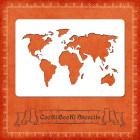 Силиконов шаблон - световна карта