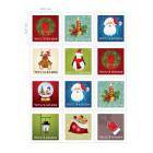 Ядливи стикери - Коледни марки #02