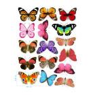 Ядливи стикери - декоративни пеперуди #01