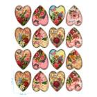 Ядливи стикери - винтидж сърчица  #02