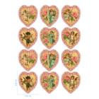 Ядливи стикери - винтидж сърчица  #03