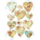 Ядливи стикери - винтидж сърчица #04