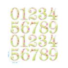 Ядливи стикери - декоративни цифри #01