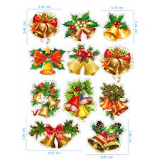 Коледа - Ядливи стикери - Коледни камбанки #01