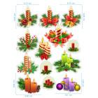 Ядливи стикери - Коледни свещи #01