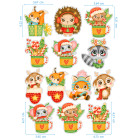 Ядливи стикери - анимирани Коледни герои #02