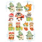 Ядливи стикери - анимирани Коледни герои #03