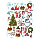 Ядливи стикери - Коледни герои и артикули #01