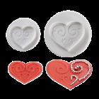 Комплект щампи с текстурирани сърца