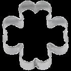 Метален резец - 4 листна детелина 3.5 см