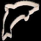 Метален резец - делфин 7 см