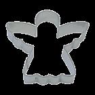 Метален резец - ангелче 8 см