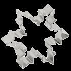 Метален резец - снежен кристал 6.5 см