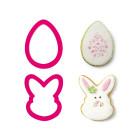 Комплект резци Decora - Великденско яйце и лице на зайче