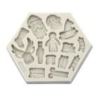 Силиконов калъп - 3D Коледни фигури