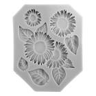 Силиконов калъп - слънчогледи с листа