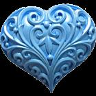 Силиконова форма - декорирано сърце