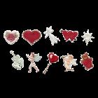 Комплект релси - сърца и херувими