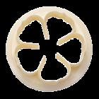 Резец - венчелистче на роза - 75 мм