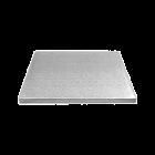 Луксозна квадратна основа - дебела сребро - 15 см