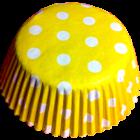 Форми за мъфини - жълти с бели точки