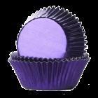 Форма за мъфини - виолетови фолирани