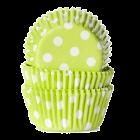 Форма за мъфини - светло зелени с бели точки