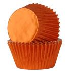 Форма за мъфини - оранжеви фолирани