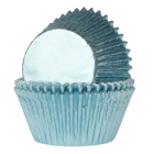 Форма за мъфини - бебешко сини фолирани