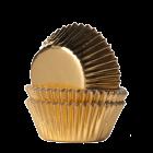 Форма за мъфини - златни фолирани - мини