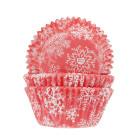 Форми за мъфини - кристално червен сняг