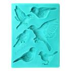 Силиконов калъп - птици 6 фигури