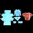Комплект резци и щампи - футболна тениска