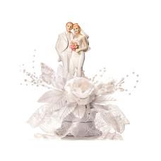 Аксесоари за украса - Декоративни фигури - младоженци с цветя