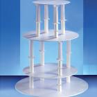 Кръгла 4-етажна стойка за торта - колони