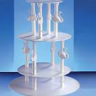 Кръгла 4-етажна стойка за торта - лебеди