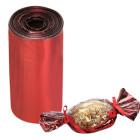 Целуфанов лист за опаковка - червен 25 х 100 см