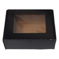 Инструменти и щипки - Кутия с прозорец черна - 170x130x60 мм