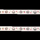 Декоративна лента - мъфини бяла