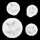 Комплект щампи - звезда 4 бр.