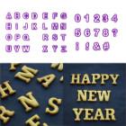 Комплект от резци цифри и букви - 40 бр. OEM