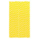 Хартиени сламки - жълти на бели квадрати