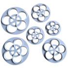 Комплект резци - петлистна роза - 6 бр.